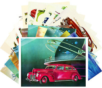 Postcards Pack [24 card] Vintage Dodge Classic American Cars Fifties CD3023