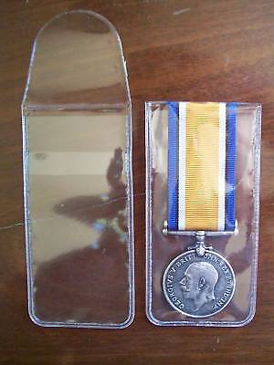 PLASTIC MEDAL WALLET for MILITARY MEDALS - Pack 50 Individual Wallets 55mm wide