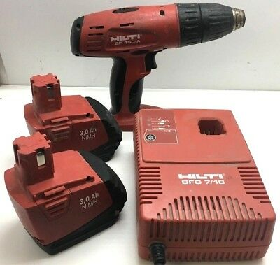 Hilti SF 150-A  Drill Driver Cordless Tool 2 Batteries & Charger