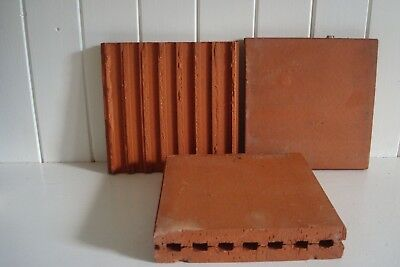 178 x Vintage Terracotta Garden Landscape Pavers Tiles 155mm x 155mm Unused