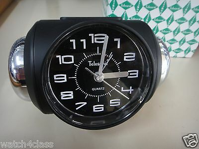 [Telesonic]CRAZY Super LOUD Bell Alarm snooze Clock BLK+Free Ship~MADE in TAIWAN