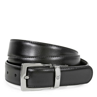 MontBlanc Classic Reversible Leather Belt-  Black/Brown