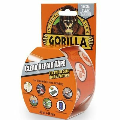 Gorilla Clear Repair Tape Waterproof Repair With Gloss Finish Heavy Duty Duct