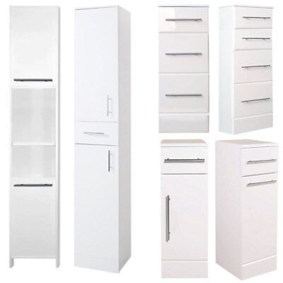 Prime White Gloss Freestanding Bathroom Storage Storage Ideas Home Interior And Landscaping Ologienasavecom