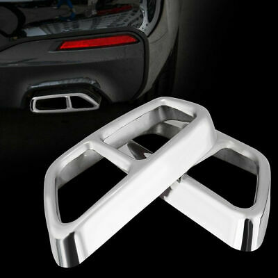 Pair Rear Exhaust Pipe Muffler Cover Trims Set for BMW 5 Series G30 2017-2018 ZY