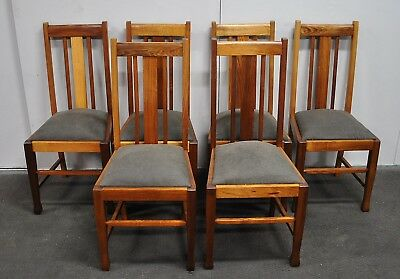 Lovely Set Of 6 Antique Blackwood Dining Chairs  c1920s