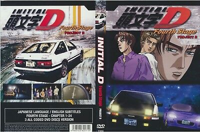 Initial D Fourth Stage Project D - 3 DVD DISCS Used Japanese / English subtitles