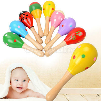 Baby Toddler Sound Toys Musical Wood Boy & Girl Ball Instrument Handbell Rattle