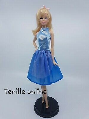 New Barbie doll clothes outfit princess wedding gown navy dress blue pretty