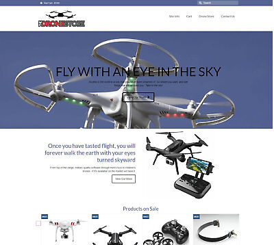 Fully Stocked DRONE Website business - FREE Domain / Hosting. Upto £470 per sale