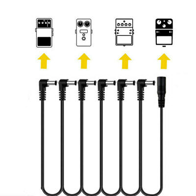 6 Way Daisy Chain Cable For Electric Guitar Effect Pedal Power Supply Cord Lead