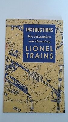 1948 Instructions for Assembling and Operating Lionel Trains Manual