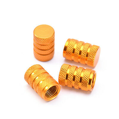 4X Aluminum Piston Tire/rim Valve/wheel Air Port Dust Cover Stem Cap/caps Gold