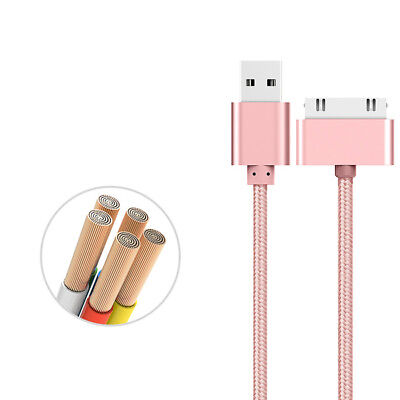 Metal Charger New Cable Cord USB Data Sync For iPhone 4 4S Apple 2 3 Nano New