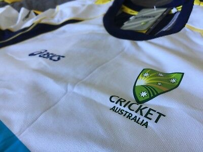 BNWT Australia Cricket Training Shirt Top Jumper