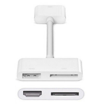 Digital AV HDTV Video Adapter 30 pin dock to HDMI for Apple iPad 2 3 iPhone 4 4S