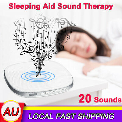 20 Sounds Sleep Soothing Relax Machine White Noise Therapy Sleep Conditioner AU