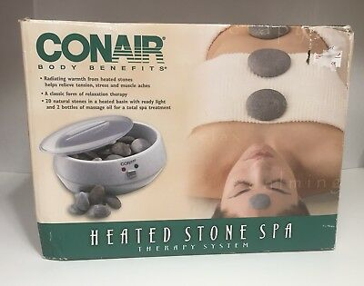 Conair Body Benefits Heated Stone Spa Hot Rocks Therapy Kit HR10 ONLY USED ONCE