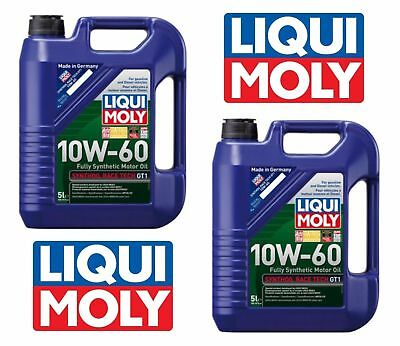 10 Liters Engine Oil Liqui Moly 10W-60 Fully Synthetic RaceTech Motor Oil