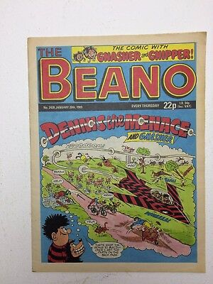 The Beano UK Paper Comic No. 2428 January 28 1989