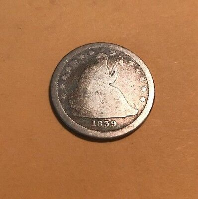 liberty seated quarter 1839