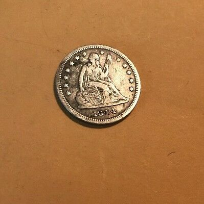 liberty seated quarter 1844