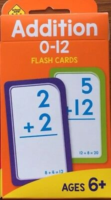 Early Learning Addition 0-12 Flash Cards Ages 6+