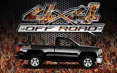 2 4x4 Off Road Truck Camouflage Buck Camo Truck Bed Decals Stickers-BOBB