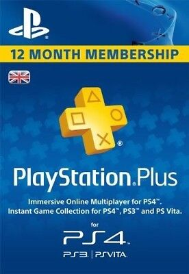 PlayStation Plus - 12 Month Subscription (UK) CODE