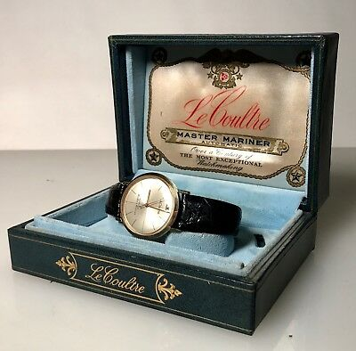 Original VINTAGE 14k GOLD LeCoultre Automatic MASTER MARINER Men's  WATCH in BOX