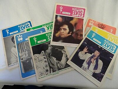 Collection of vintage Always Elvis magazine from 1981/82