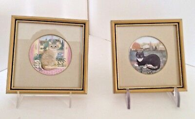Framed Cat prints set 2