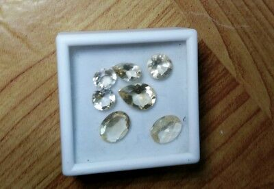 7 Citrine Faceted Gemstones 7.70Cts, Beautiful!!