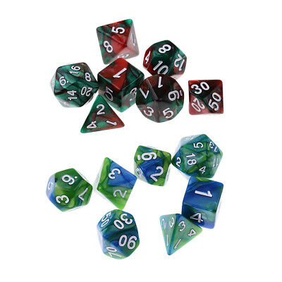 14x Polyhedral Dices Die for Dungeons and Dragons Dice Set Party Table Games