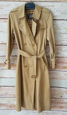 Vintage Burberry London nova check trench coat classic jacket Size 10 long