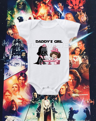 Star Wars Daddy's Girl Onesie Adorable Vader Tea Party Shirt