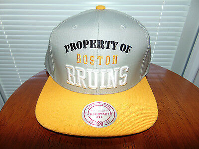 the best attitude 2ff63 95c50 ... noise snapback cap df4f1 1a507  low price 2015 mitchell ness property boston  bruins nhl hockey hat cap gray yellow new c2014