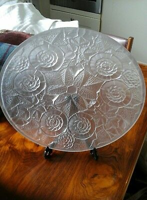 Art Deco Lalique Style large Bowl, possibly Jobling