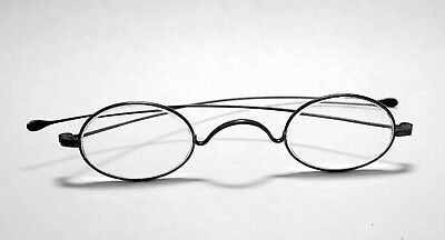 Antique STEEL FRAME GLASSES Spectacles Civil War Era
