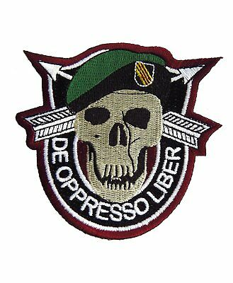 Aufnäher US Army Special Forces Black OPPS De Oppresso Liber Green Berets