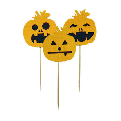 Halloween Cake Topper Pack of 10 Baby Shower Party Cupcake Decor Food Picks