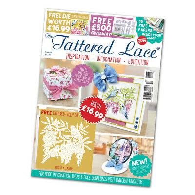 Tattered Lace Magazine Issue 54 with ' Birds of a Feather ' Die