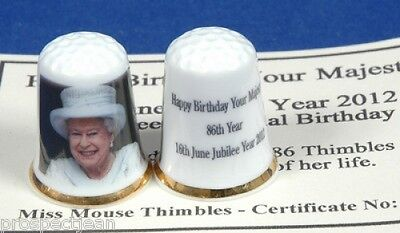 Happy Birthday Your Majesty 2012 LTD AUSGABE 86 Fingerhüte + Cert B/11