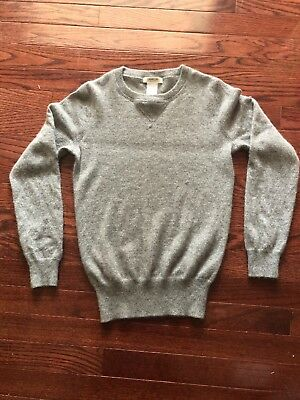 Crew cuts collection Boys J Crew 100% Cashmere Sweater Gray Size 12 Kids