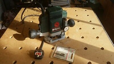 Superb Metabo OF E 1229 Router 240v German made + boxed Wolfcraft Dovetail Jig