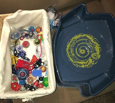 Huge Beyblade Lot!  Launchers Rip Cords Metal Fusion Arena