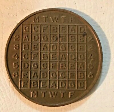 Unusual Code Decoder Chart Medal Coin Letters, Numbers, Fractions