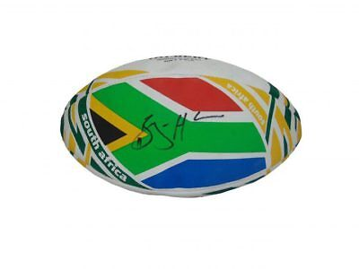 Bryan Habana Signed South Africa Springboks Rugby Ball+Photo Proof*See Him Sign*
