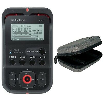 Roland R-07-BK High-Resolution Portable Audio Recorder in Black + Carry Case