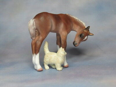 Custom CM Breyer Stablemate G2 Foal (& Friend) x L. Elkjer +++WOW+++